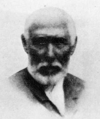Andres de Isasi Zuluata, Marques de Barambio , presidente del Consejo, del Fc de Luchana a Munguía en 1895