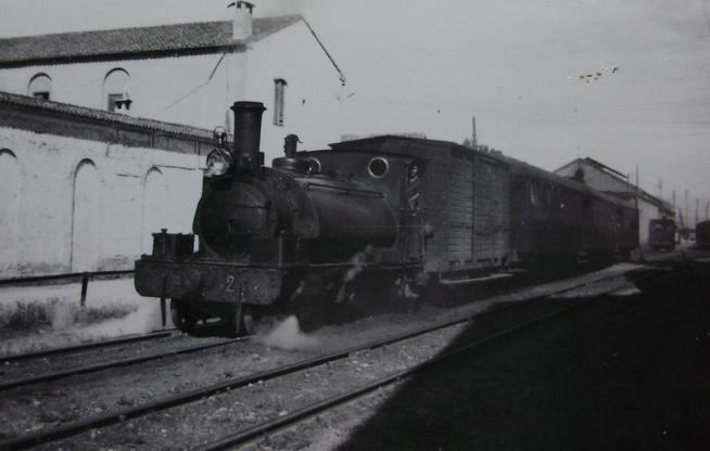 Carcagente a Denia, locomotora nº 2 , año 1954