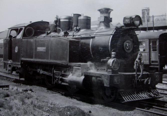 Económicos de Asturias, locomotora nº 31, año 1960, Fondo Gustavo Reder