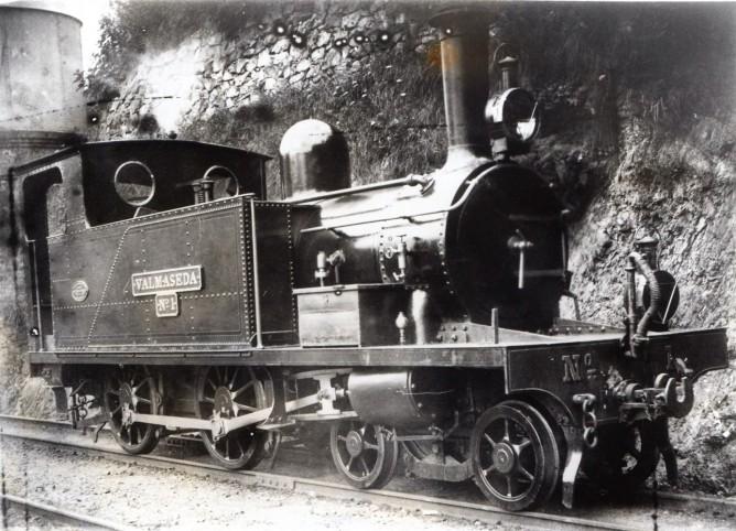 Fc del Cadagua, Zorroza a Balmaseda , locomotora Valmaseda nº 1, fondo Euskotren MVF