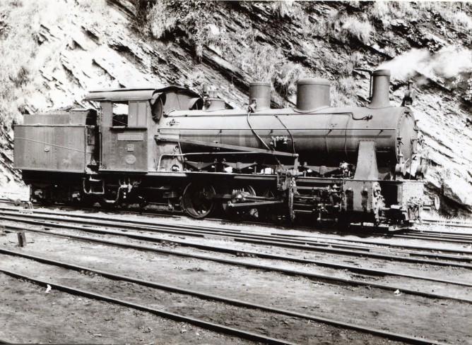 Ferrocarril de La Robla, Lococomotra tipo Engerth , foto Xavier Santamaría