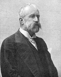 Francisco Romero Robledo , presidente del Consejo de Administracion del Ferrocarril de San Juan de Musques a Castro Urdiales y Traslaviña en 1901