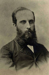 Juan Casas i Arxer , concesionario del Ferrocarril de Sant Feliu, foto año 1890