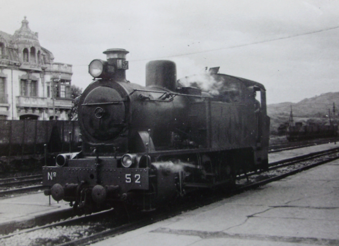 Langreo , locomotora nº 52, fotografo desconocido