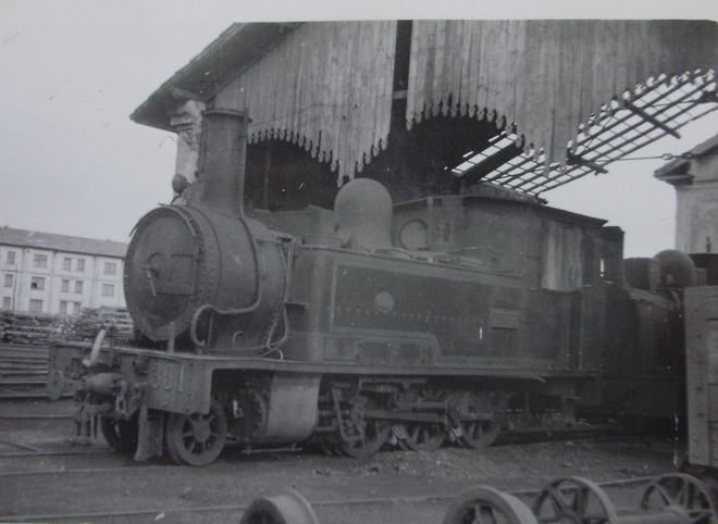 Luchana a Munguia, locomotora nº 301, año 1959, fotografo desconocido
