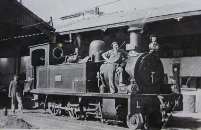 Luchana a Munguia , locomotora nº 2 , año 1959, fotografo desconocido