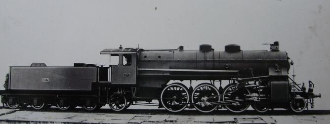 MZA locomotora nº 877, foto de fábrica
