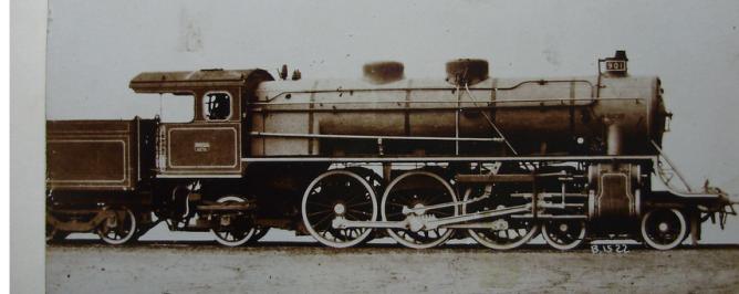 MZA, locomotora nº 901 , postal comercial