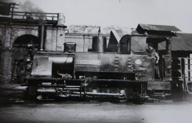 Madrid a Almorox , locomotora nº 3 NAVALCARNERO, año 1953, fondo Gustavo Reder