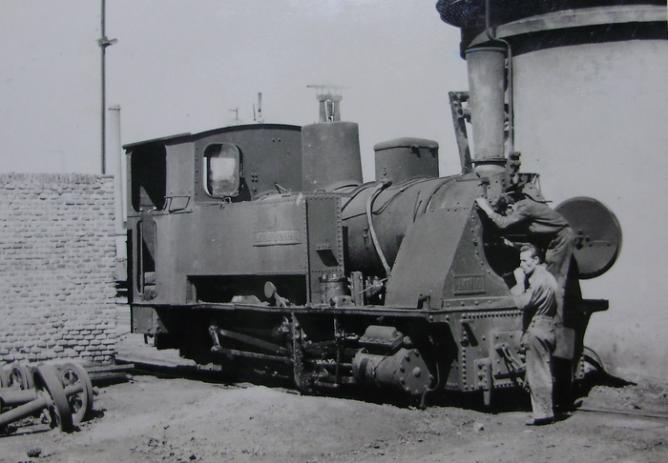Madrid a Almorox , locomotora nº 3 , año 1960, Fondo Gustavo Reder