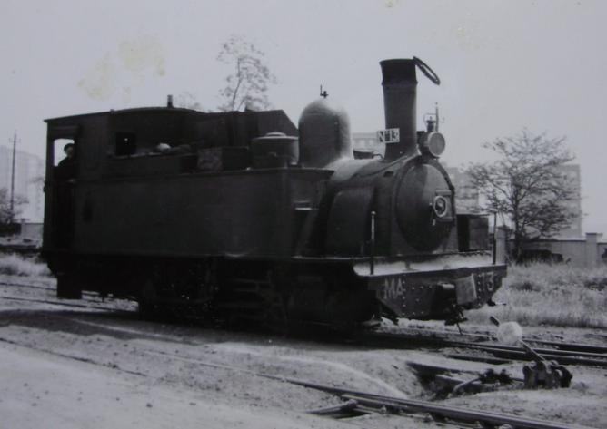 Madrid a Aragón , locomotora nº 13, año 1960, fotografo desconocido