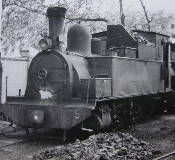 Madrid a Aragon , locomotora nº 5 , año 1952, fotografo desconocido