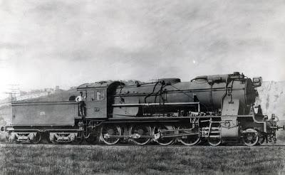 Oeste - Locomotora serie 1000., archivo Babcook & Wilcox