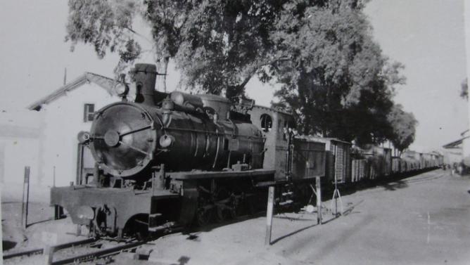 nidad de tren en Pueblo Nuevo del Terrible , c. 1960, fondo Gustavo Reder