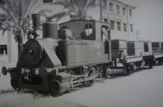 Puerto de Huelva, locomotora 020T, nº 6 , el 1 de mayo de 1964