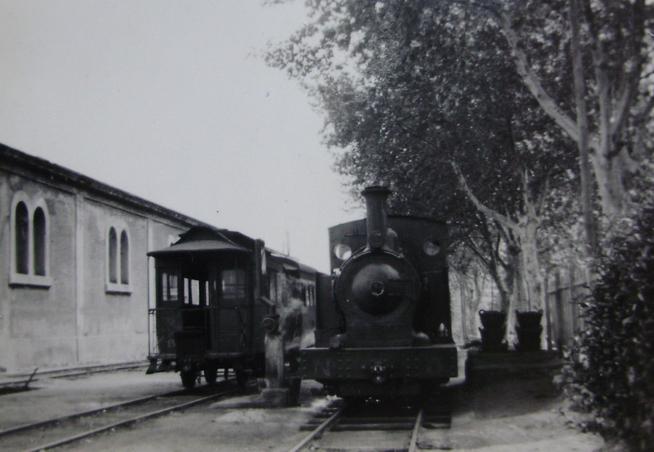 Reus Salou, locomotora nº 5 , año 1950, fotografo desconocido