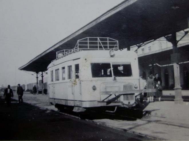 Salamanca , automotor , c. 1950, fotografo desonocido