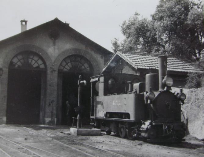 Sant Feliu de Guixols a Gerona, locomotora nº 4, año 1953, autor desconocido