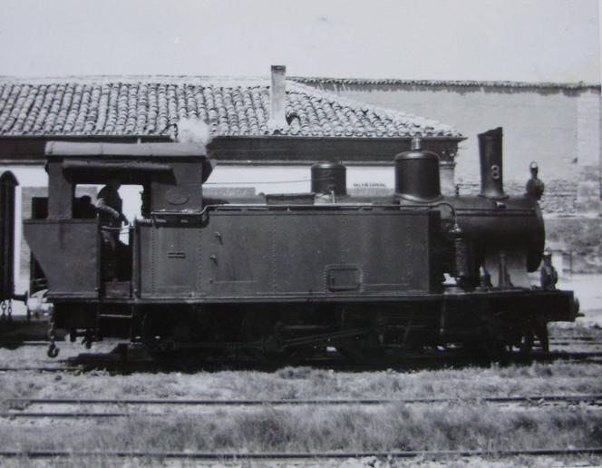 Secundarios de Castilla, locomotora nº 8, c. 1960, fotografo desconocido