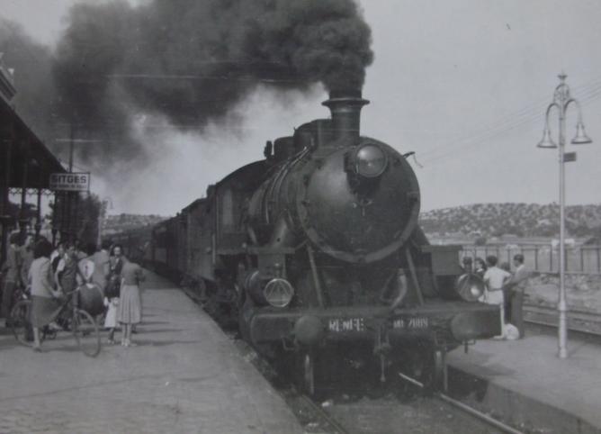 Estación de Sitges, año 1950, foto Major EAS Cotton
