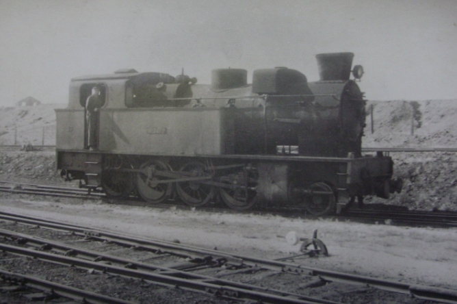 Tharsis Sulphur & Cooper , locomotora 37 ALMENDRO, 15 mayo 1965, autor desconocido, fondo Gustavo Reder