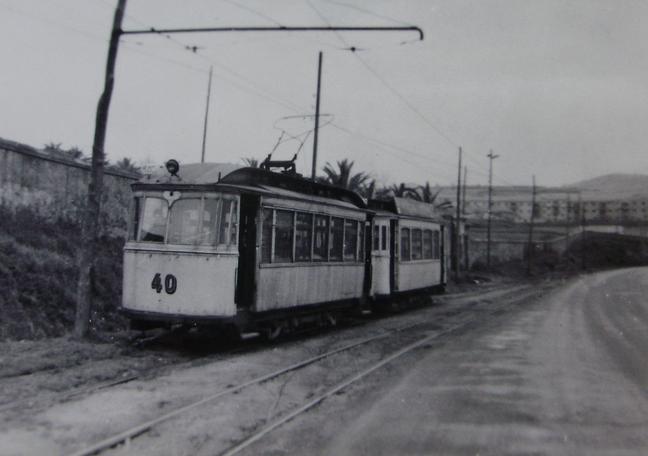 Tranvias de Gijón , coche nº 40, c. 1950, fotografo desconocido