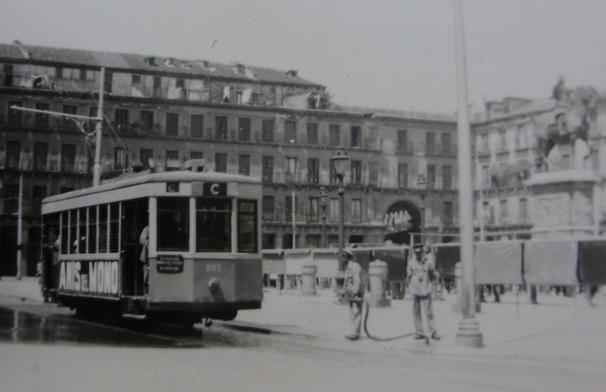 Tranvias de Madrid, Plaza Mayor, fotografo desconocido