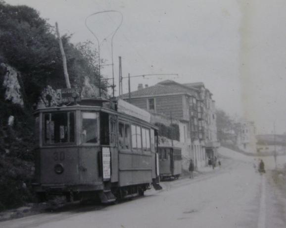 Tranvias de Santander , c 1950, fotografo desconocido