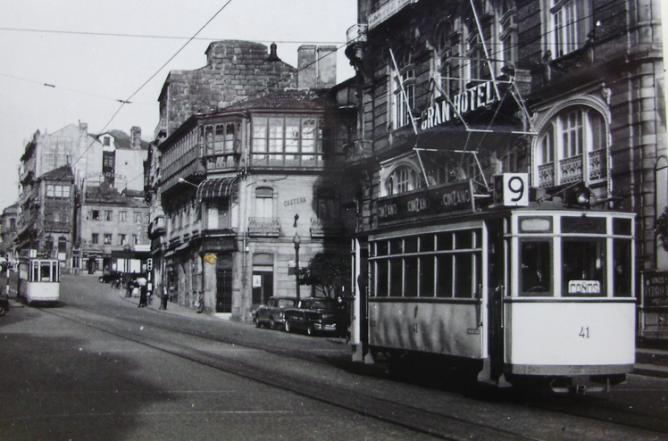 Tranvias de Vigo , coche nº 41 en la linea 9 , c.1950, fotografo desconocido