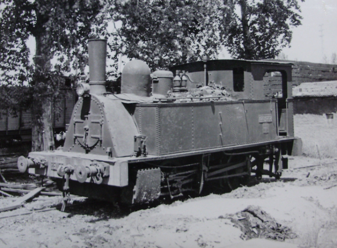 Valencia Alameda, ex Central de Aragón , locomotora Cuillet 020-0262 , el 7 de mayo de 1963