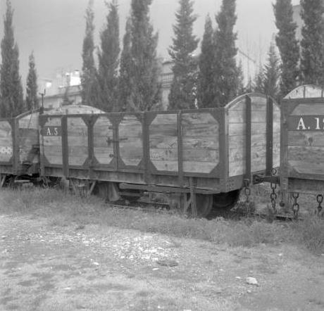 Ferrocarriles de Mallorca, Vagon de carga de bordes mediaos, Archivo Cuyás, fondo ICC