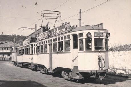 Tranvia de Vigo a Baiona, Foto Christian Schnabel, fondo MVF
