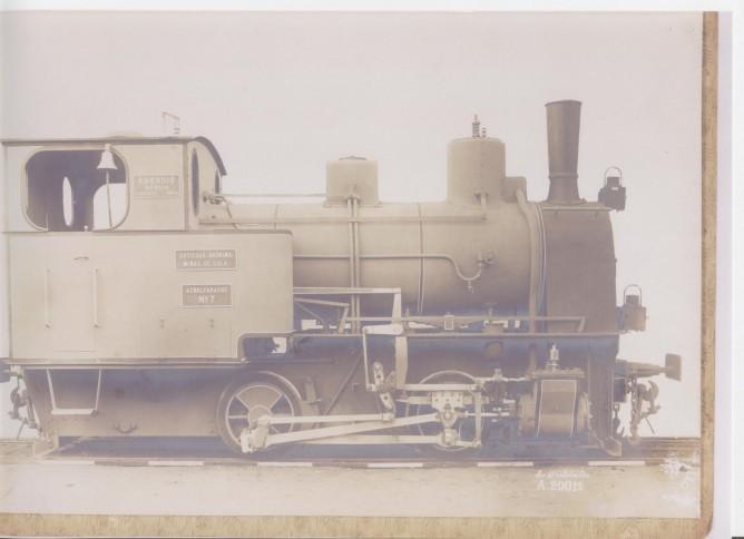 Locomotora nº 7 'Aznalfarache'. Foto del fábricante Borsig