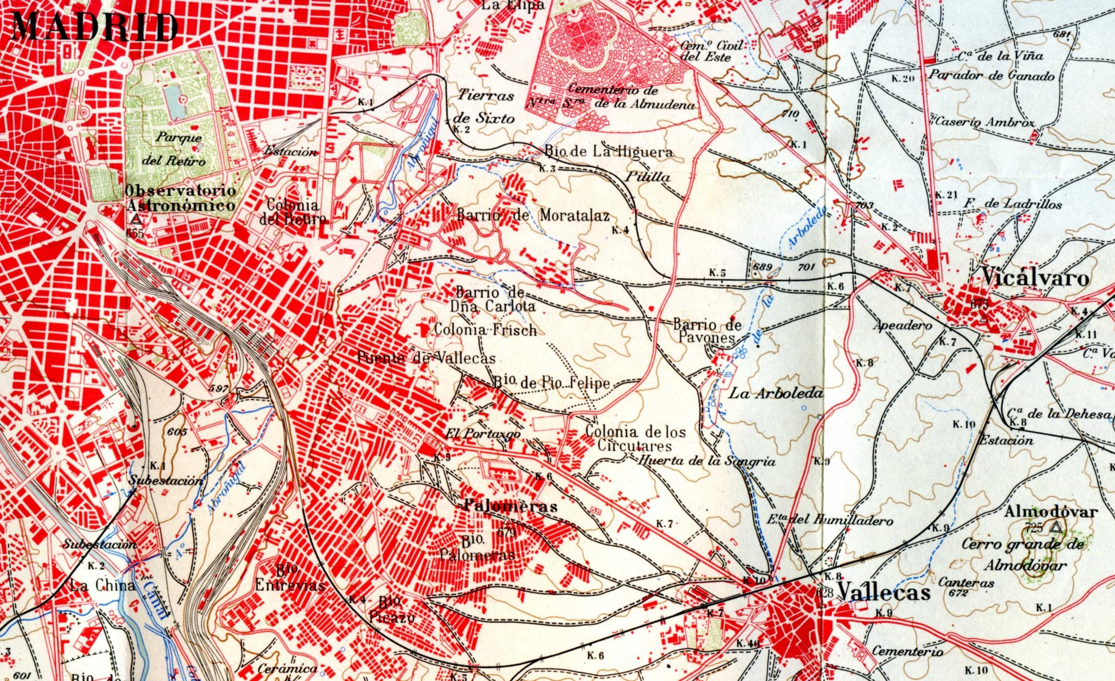 Plano tramo Madrid Vicálvaro