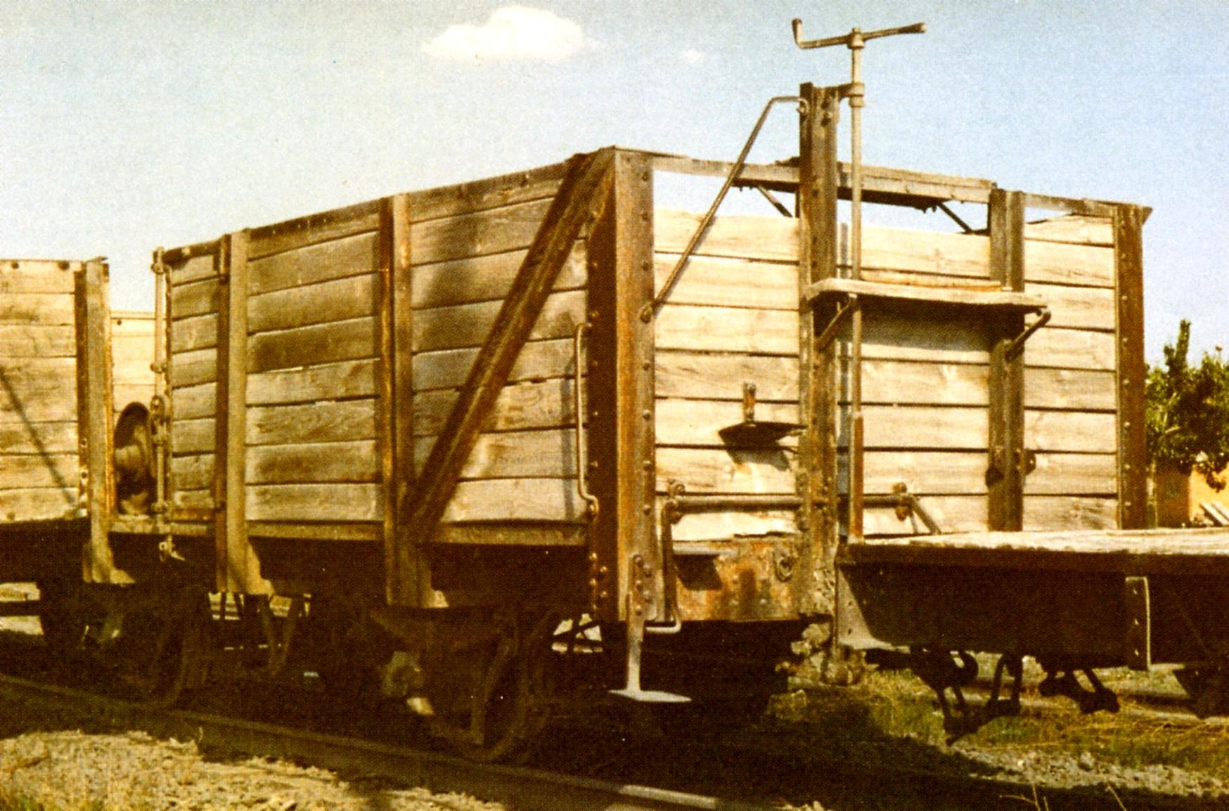 Vagón 2 ejes bordes altos, Fc del Tajuña