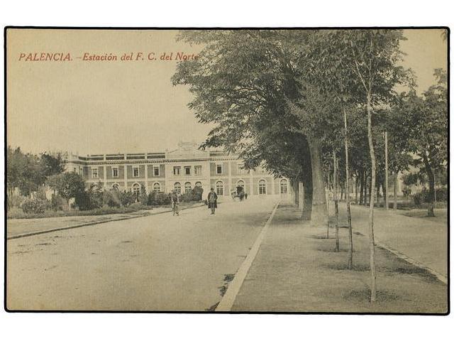 Estacion de Palencia, postal comercial, fondo Miguel Diago Arcusa