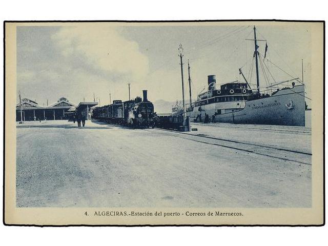 Estacion de Algeciras puerto, correo á Marruecos, fondo MDA