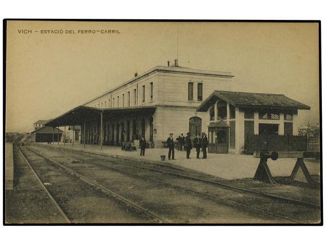 Estacion de Vich, postal comercial
