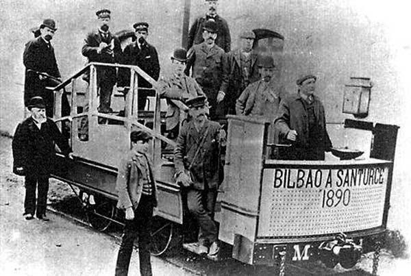 Bilbao a Santurce , 1910 , col Rosario Gazapo