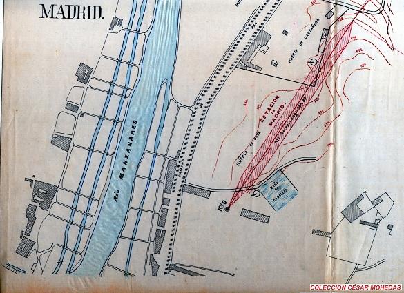 Primitiva distribucion de las vias de servicio en la estación de Madrid, fondo Cesar Mohedas