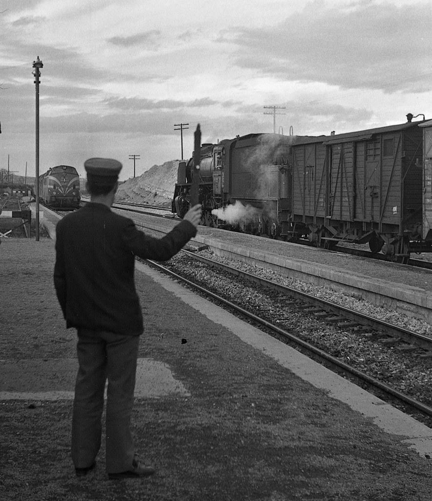 Estación de Azaila, feberro de 1973, fondo JB