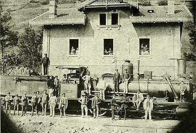 Estación AGL de Mieres, C. 1900. fotografo desconocido