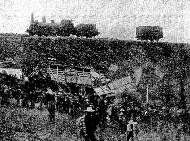 Accidente de El Salobral , foto archivo ABC 18.12.1903