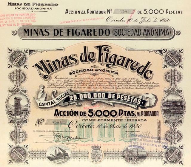 Accion de Minas de Figaredo S.A.