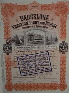 Accion de la Barcelona Traction