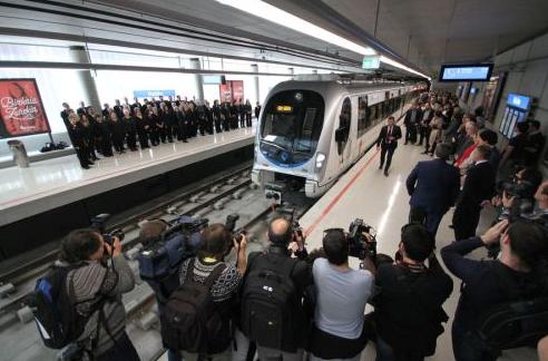Acto de inauguracion de la linea 3 del Metro de Bilbao , imagen Manu Cecilio