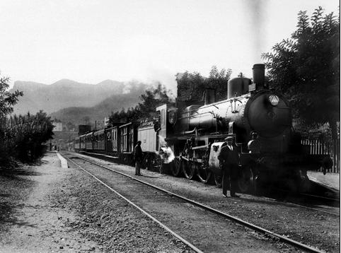 Aiguafreda, locomotora Norte 3144, c.1920, Coleccion Roisin IEFC-acm-9-5843