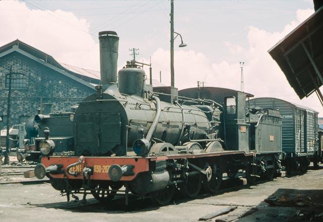 Albacete .4 junio 1966, locomotora , foto James M. Jarvis