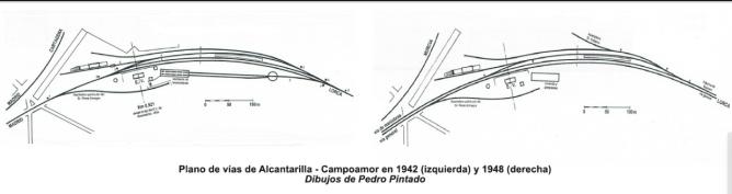 Alcantarilla, dibujo de la estación, por Pedro Quintana Pintado