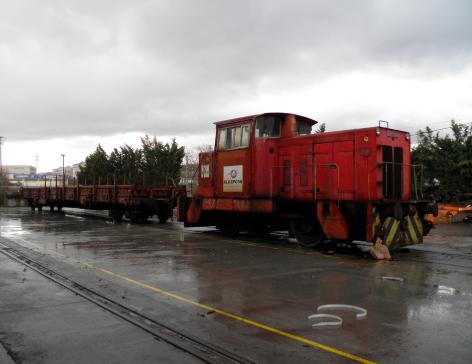 Algeposa, base de Irun , Locomotora Hunslet nº 1 ex Orconera, foto Angel Briz